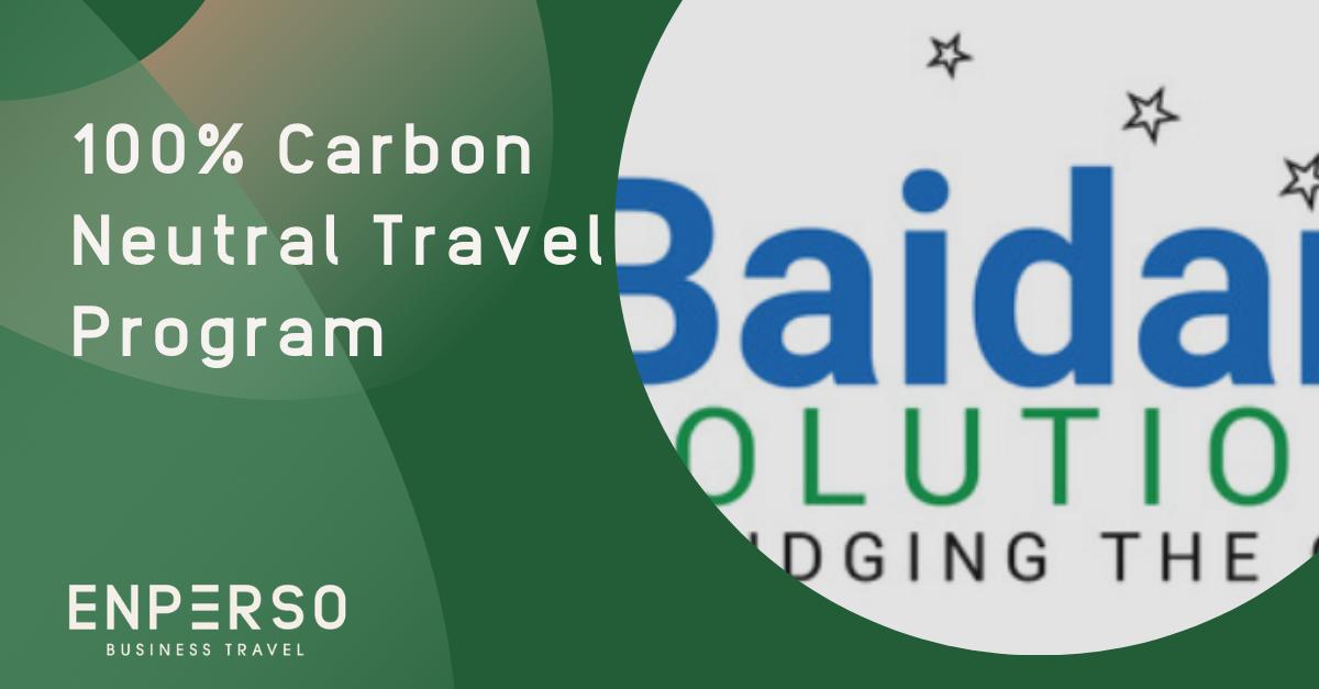 Baidam's Travel Program Goes 100% Carbon Neutral
